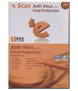 ESCAN ANTIVIRUS WITH TOTAL PROTECTION 1 USER 1YEAR