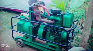 Green And Black Electric Generator