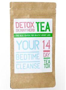 14 Day Bedtime Cleanse Tea: Detox Skinny Herb Tea - Natural