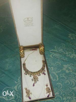 Bridal jewellery set purchased from khimji