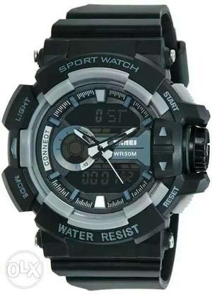 Mens watch dual dial n digital meter light its