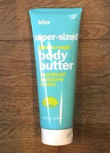SUPER-SIZED BLISS BODY BUTTER MAXIMUM MOISTURE CREAM LEMON +