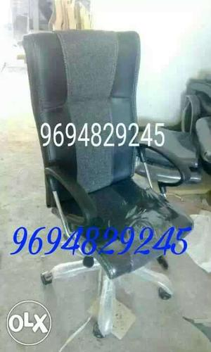 New high back revolving Chair with push back