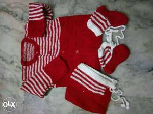 3 cute new woolen dresses for new born