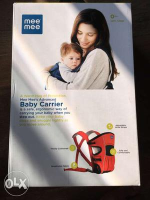 Brand new baby carrier of Mee Mee brand (0-12kgs)