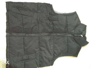Pure Black Bubble Full-zip Vest medium size Men *Brand new*
