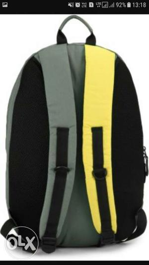 Yellow,black And Gray Backpack
