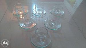 Borosil Cup and Saucer Set, 150ml - Set of 6