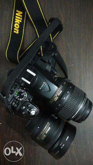 Nikon D with mm and 35mm prime lenses