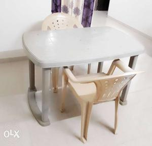 Plastic table with 2 chairs (Cello Brand)