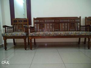 Burma teak wood shoba set