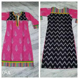 Pink And Black Chevron Long-sleeved Dress Photo Collage