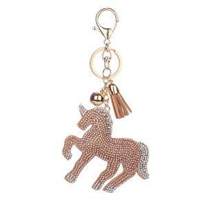 Bag Purse Pendant,Keychain,Cham pagne Unicorn Key Hanger