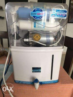 Kent Super+ RO Water Purifier 15ltrs in perfect condition