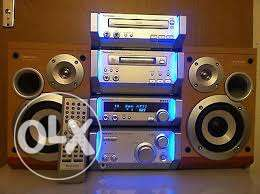 Technics cd player speakers and remote for sale