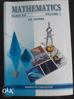 Mathematics Class 12 Volume-1 and 2 R.D. Sharma Book for