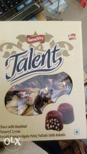 Talent chocolate with Hazelnut and flavored cream