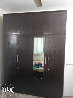 This is 4 door wardrobe with mirror. also it has