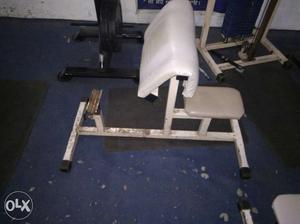 White And Gray Exercise Equipment