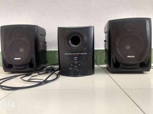 Black Philips Shelf Stereo System