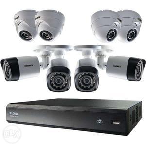 CCTV Camera in dehradun 4 HD Camera + 4 Ch DVR +1 TB Hdd