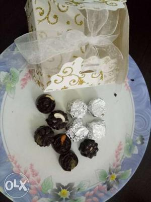 Home made chocolate 50rs for 6 ps.