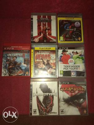 PS3 Games Set of 7 games each RS. , total set