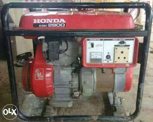 Red And Black Honda EBK  Portable Diesel Power Generator