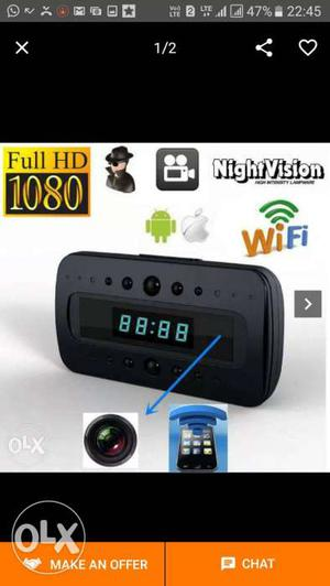 Spy WiFi table clock