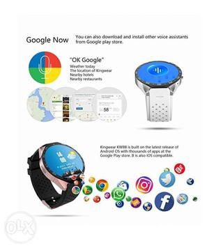 Kw88 Smart Watch with 3G Quad Core support 2.0MP