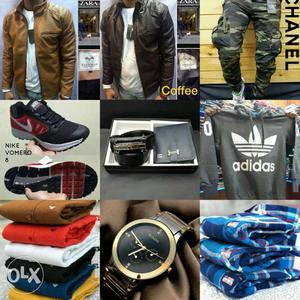 Shoes jackets watches shirts all in offer price