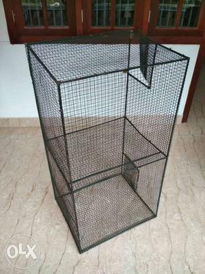 Black Steel Pet Cage