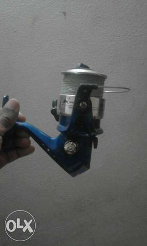 Blue, Black, And Silver Spincast Fishing Reel -Nf  reel&