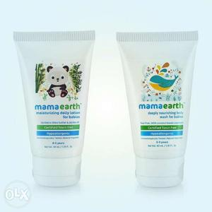 Mamaearth body lotion and body wash for babies