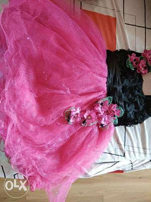 Party Frock for Baby Girl 1-3 years with matching shoes and