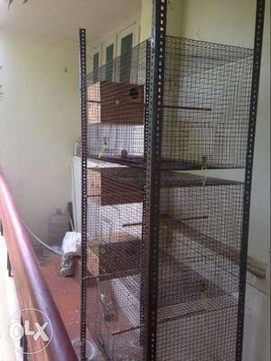 Used cage and breeding boxes for sale in good