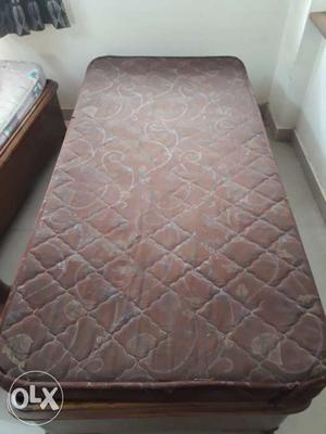 Used teak wood bed with mattress.