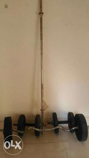 Gym Set. 1. Zig-Zag Rod 1pc. 2. Barbell Rod 1pc.