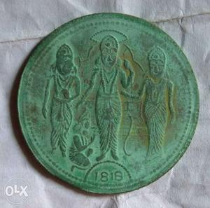 Ukl one anna copper coin from east india company