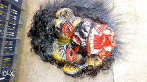 Horror Rubber mask with hair wig(duplicate hair).