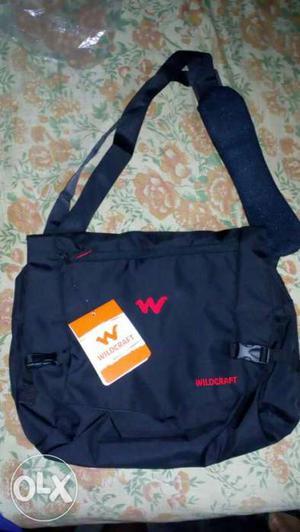 Black wildcraft messenger bag