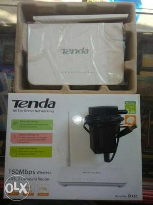 White Tenda Wireless N Router Box