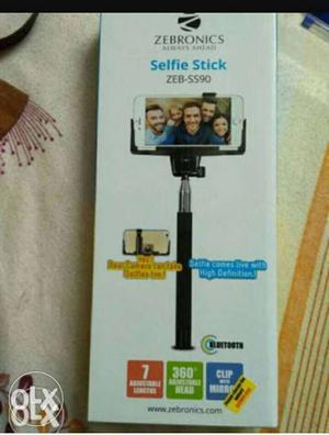 Zebronics new unused, selfie stick with Bluetooth feature.