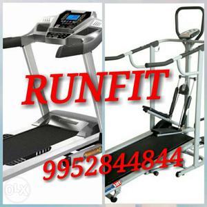 Automatic Treadmill,Black And Grey Treadmill Collage Mysore