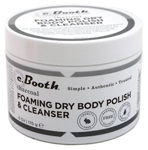 C.Booth Foaming Dry Body Polish And Cleanser 6 Ounce Jar