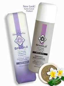 SpaGlo Facial Cleanser - Glycolic Mud Cleanser Revitalizes
