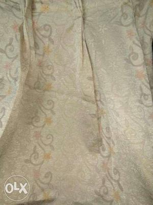 5 Nos. Of Silk curtains with embossing, rarely