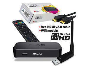 Brand NEW MAG 256 IPTV Set-Top-Box by INFOMIR + Antenna WiFi