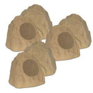 """Theater Solutions 6R8S Outdoor Sandstone 8"""" Rock 6 Speaker"""