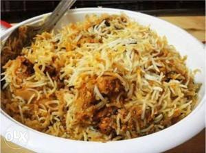 We take orders for Hyderabadi Biryani Mutton and
